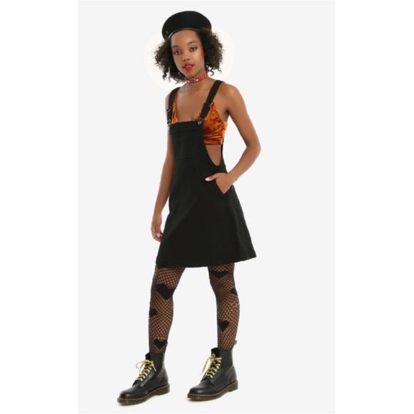 3a12371f49 Blackheart black denim overall dress jumper goth